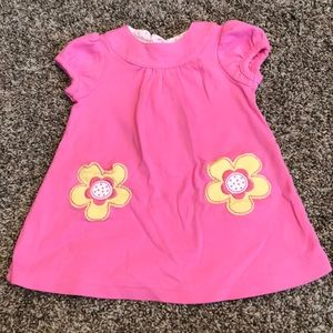 Carters pink Dress with yellow flower pockets
